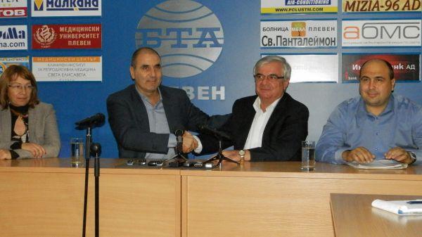 Цветан Цветанов и Димитър Стойков